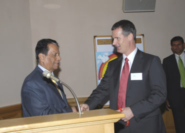 Lance Ranger and the President of Mauritius