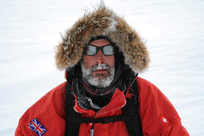 Lance at the South Pole Track