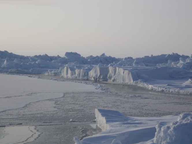Ice sorroundings